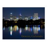Reflexión del horizonte de la noche de Denver Postales