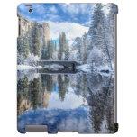Reflexión del invierno en Yosemite