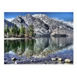 Reflexión del lago jenny postal