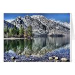 Reflexión del lago jenny tarjetas