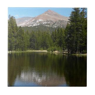 Reflexión del lago Yosemite Azulejo Cuadrado Pequeño