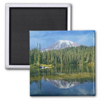 Reflexión del Monte Rainier Imán
