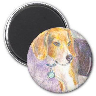 Reflexión del perrito imán redondo 5 cm