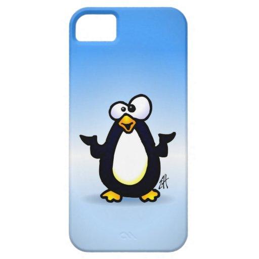 Reflexión del pingüino iPhone 5 cárcasas