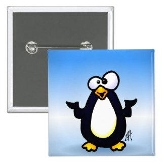 Reflexión del pingüino pin cuadrado