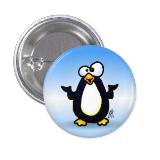 Reflexión del pingüino pin redondo de 1 pulgada