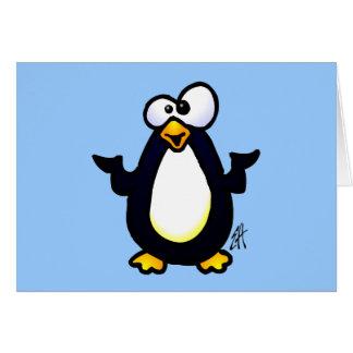 Reflexión del pingüino tarjetas