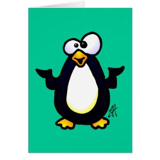 Reflexión del pingüino tarjeta de felicitación