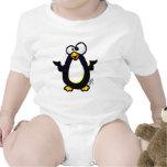 Reflexión del pingüino trajes de bebé