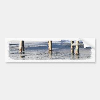 Reflexión del puente pegatina de parachoque