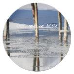 Reflexión del puente; Personalizable Plato De Comida