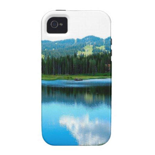 Reflexión del resplandor del verano del agua iPhone 4 carcasa
