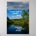 Reflexión del río: Cala Michigan del mineral Posters