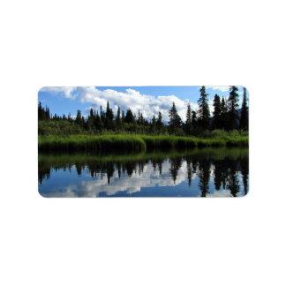 Reflexión del río de Lapie Etiquetas De Dirección