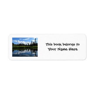 Reflexión del río de Lapie Etiquetas De Remite