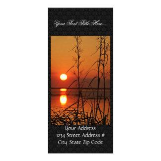 """Reflexión del sol de la tarde folleto publicitario 4"""" x 9"""""""