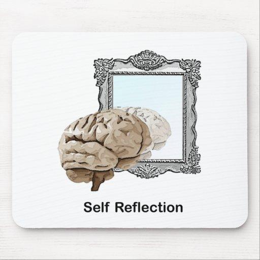 Reflexión del uno mismo alfombrilla de raton