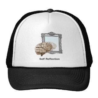 Reflexión del uno mismo gorras