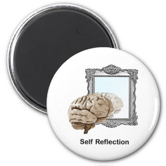 Reflexión del uno mismo iman de frigorífico