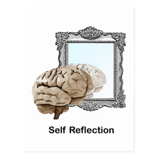 Reflexión del uno mismo postal
