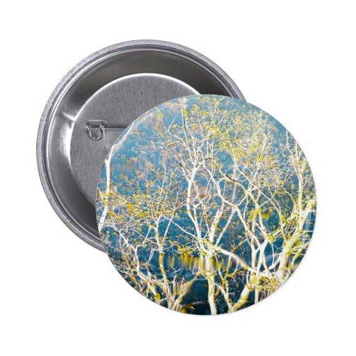 Reflexión delicada - aguamarina y amarillo pin