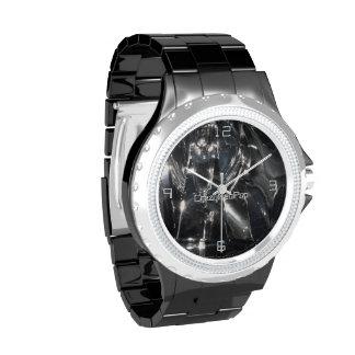 Reflexión en negras - reloj de pulsera