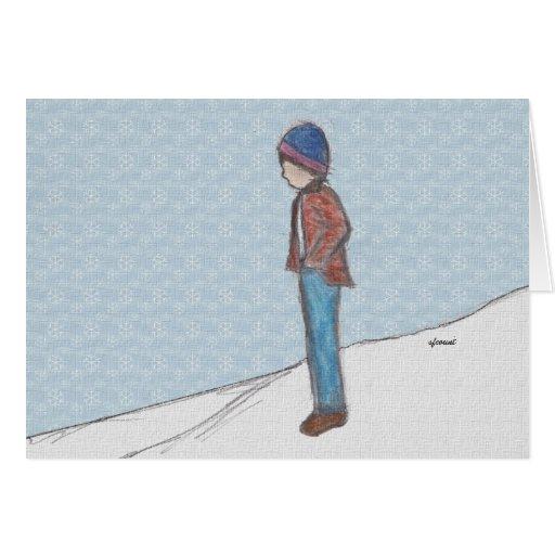 """""""Reflexión en tarjeta de la nieve"""""""