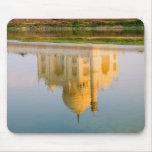 Reflexión famosa del templo del Taj Mahal en Tapete De Ratones