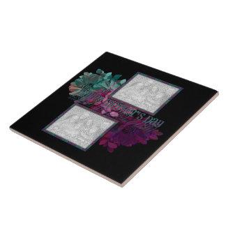Reflexión floral azulejo