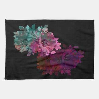 Reflexión floral toallas de cocina
