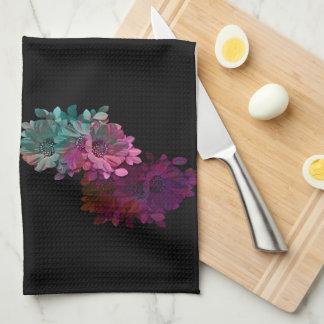 Reflexión floral toalla de cocina