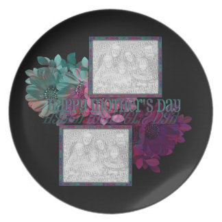 Reflexión floral plato de cena