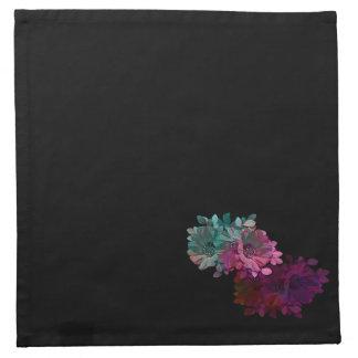 Reflexión floral servilleta imprimida