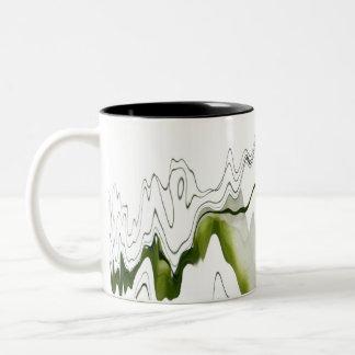 Reflexión floral taza de café