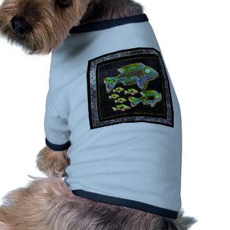 Reflexión iluminada Pescados en luz de inundación Camisetas De Mascota