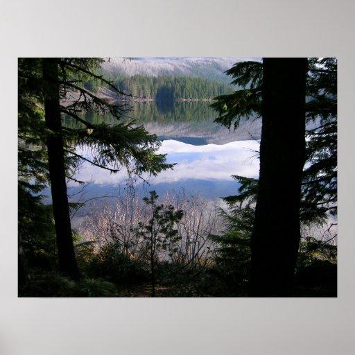 Reflexión, lago marion poster