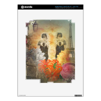 Reflexión París de la mujer del vintage iPad 3 Skins