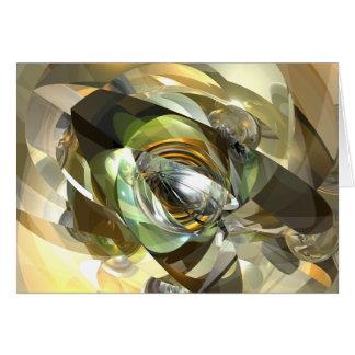 Reflexión seccionada transversalmente tarjeta de felicitación