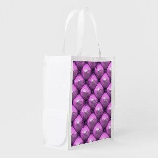 reflexión sedosa, (i) rosado bolsas reutilizables
