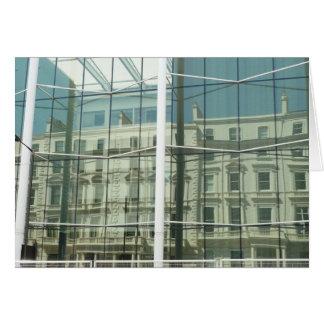 Reflexión, una fachada georgiana tarjeta de felicitación