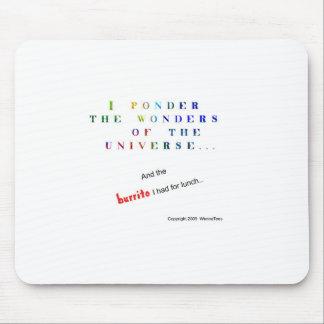 Reflexione el universo divertido mousepad