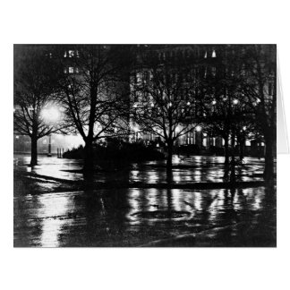 Reflexiones 1897 de New York City Tarjeta De Felicitación Grande