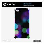 Reflexiones coloreadas púrpuras y verdes azules de skins para eliPhone 4