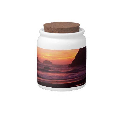 Reflexiones crepusculares Oregon de la puesta del  Platos Para Caramelos