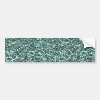 Reflexiones cristalinas de la superficie del agua pegatina para coche
