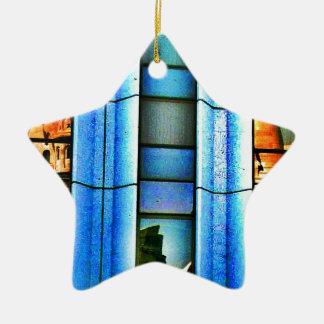 Reflexiones cubistas adorno navideño de cerámica en forma de estrella