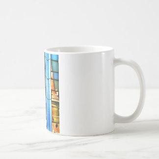 Reflexiones cubistas taza de café