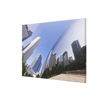 Reflexiones de Chicago Lona Estirada Galerías
