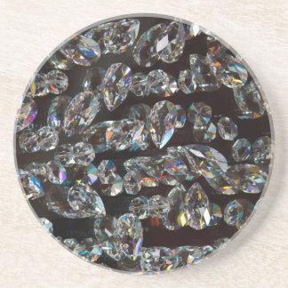 Reflexiones de cristal de los cristales posavasos diseño