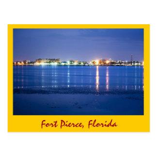 Reflexiones de Fort Pierce, la Florida Tarjeta Postal